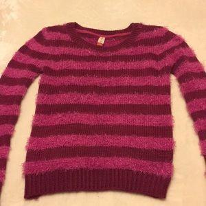 Magenta striped sweater (Juniors)